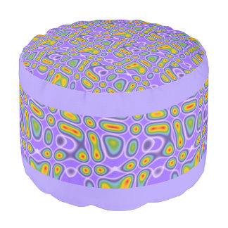 Funny Pattern Design - AURA + your background Pouf