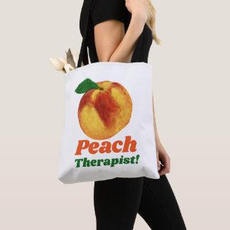 Funny Peach Therapist Tote Bag