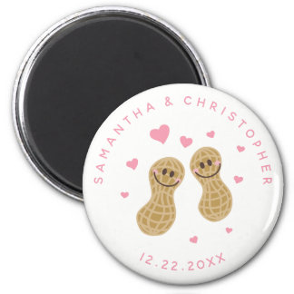 Funny Peanuts Cute Whimsical Pink Wedding Favor Magnet