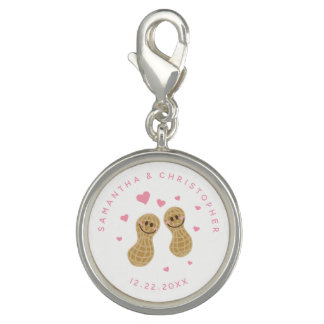 Funny Peanuts Cute Whimsical Pink Wedding Favor Photo Charms