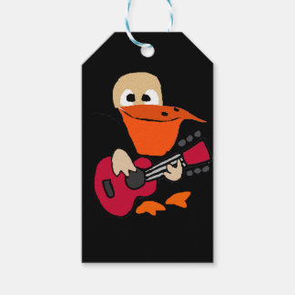 Funny Pelican Playing Guitar Art Gift Tags