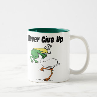Funny Pelican Two-Tone Coffee Mug