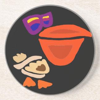 Funny Pelican Wearing Sunglasses Beverage Coasters
