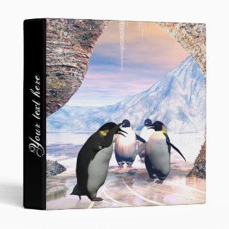 Funny penguin 3 ring binder