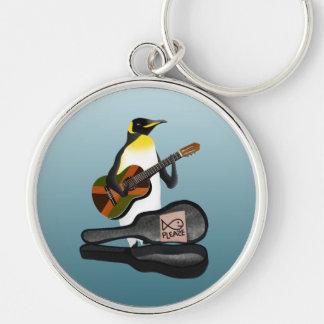 Funny Penguin Busking Keychain