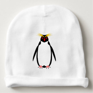 Funny penguin rockhopper or macaroni baby beanie