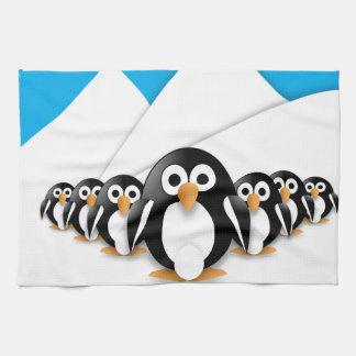 Funny penguins kitchen towel