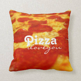 Funny Pepperoni Cheese Pizza Addict Fast Food Throw Pillow