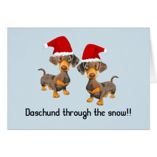 Funny Personalised dog Christmas card