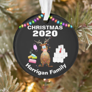 2020 Novelty Christmas Personalised Ceramic Round or Heart Bauble