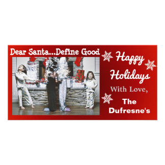 Funny Personalized Christmas Photo Greeting Card