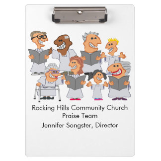Funny Personalized Church Choir Clipboards
