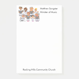Funny Personalized Church Choir Post-it® Notes