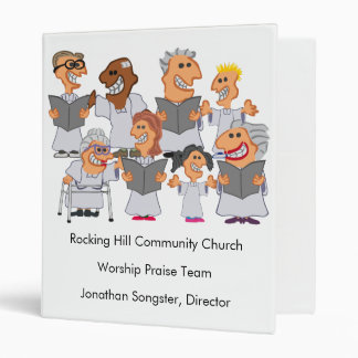 Funny Personalized Church Choir Vinyl Binders