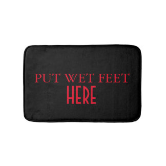 Funny Personalized Custom Your Own Photo & Text Bath Mat