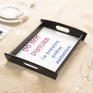 Funny Personalized Do Not Disturb Serving Tray