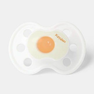 Funny, Personalized Egg White and Yolk Pacifiers