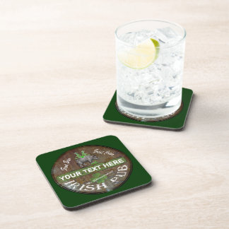 Funny personalized Irish Pub sign Coasters
