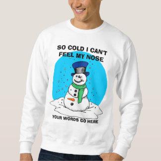 Funny Personalized Naughty Snowman Sweatshirt