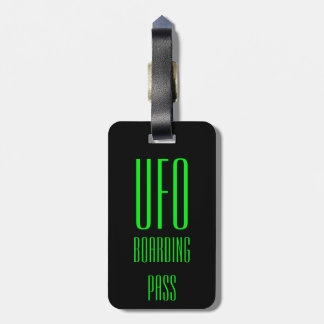 Funny Personalized UFO Luggage Tag Gift