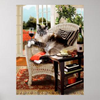 Funny Pet Poster Kitties Happy Hour