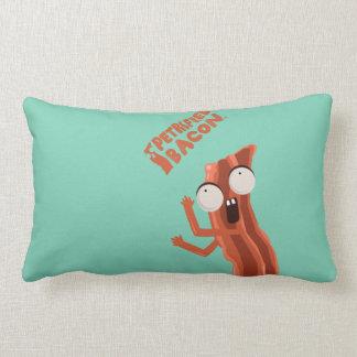Funny Petrified Bacon Lumbar Pillow! Lumbar Pillow