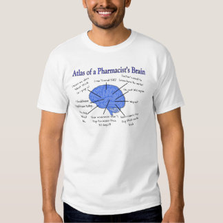 Funny Pharmacist's Brain Gifts Tees