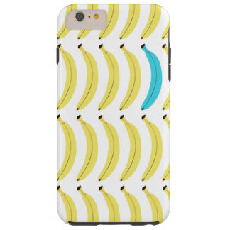 Funny Phone Case - Banana Print - Blue/Yellow