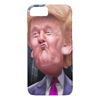 Funny phone case with caricature of Donald Trump