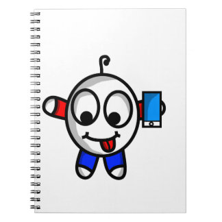 funny phone dude notebook