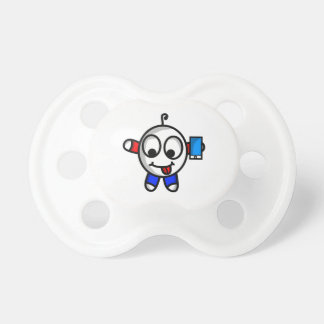 funny phone dude pacifier