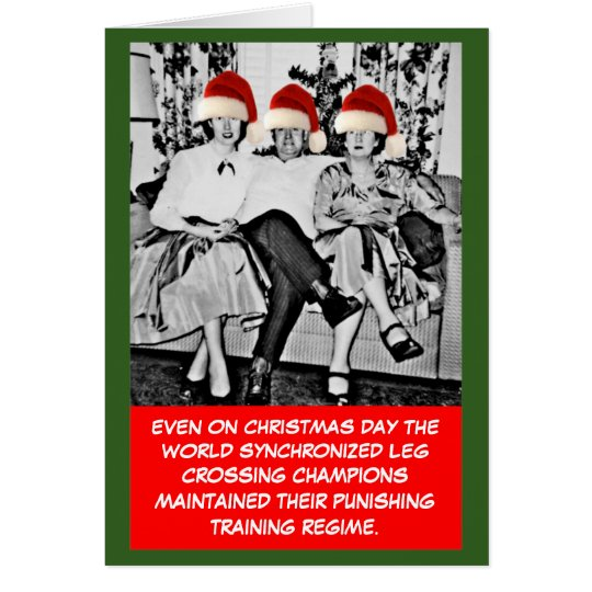 Funny photo Christmas Card