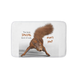 Funny Photo of Red Squirrel | Special Kind of Nuts Bathroom Mat