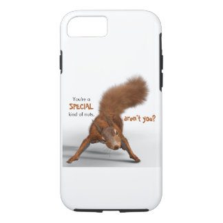 Funny Photo of Red Squirrel | Special Kind of Nuts iPhone 8/7 Case