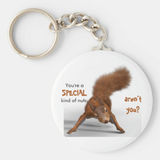 Funny Photo of Red Squirrel | Special Kind of Nuts Keychain