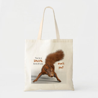 Funny Photo of Red Squirrel | Special Kind of Nuts Tote Bag