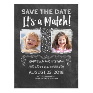 Funny Photo Save the Date - It's a Match Postcard