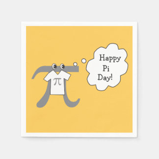 Funny Pi Guy - Happy Pi Day Disposable Napkins