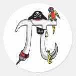 Funny Pi rate Pi Day Humour Sticker