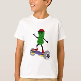 Funny Pickle is on Motorized Skateboard T-Shirt