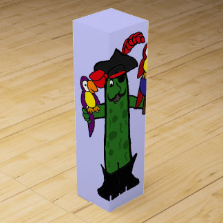 Funny Pickle Pirate with Parrots Wine Gift Box