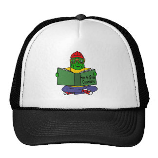 Funny Pickle Reading How to Grow Cucumbers Trucker Hat