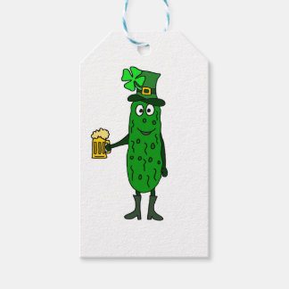 Funny Pickle St. Patrick's Day Art Gift Tags