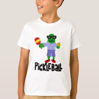 Funny Pickle with Pickleball Paddle T-Shirt