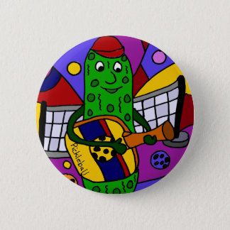 Funny Pickleball Abstract Art Original 2 Inch Round Button