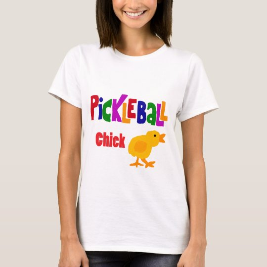 Funny Pickleball Chick Art T-Shirt