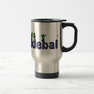 Funny Pickleball Letters with Pickles Travel Mug