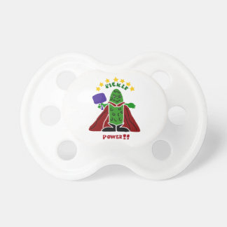 Funny Pickleball Super Hero Pickle Baby Pacifiers