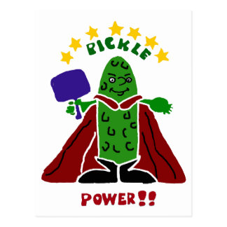 Funny Pickleball Super Hero Pickle Postcard