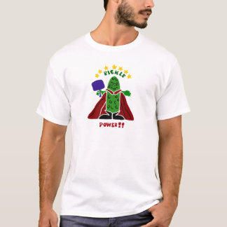 Funny Pickleball Super Hero Pickle T-Shirt